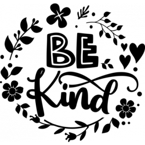 Be Kind   Floral Frame