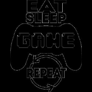 Eat Sleep Game Repeat Gaming Tshirt