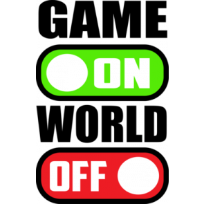 Game On World Off Gaming Tshirt