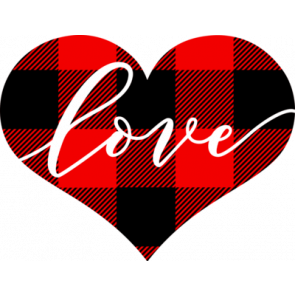 Heart With Plaid And Love Inside
