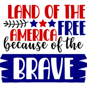 Land Of The Free America Because Of The Brave1