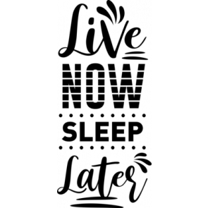 Live Now Sleep Later