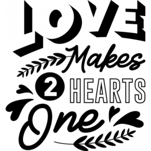 Love Makes 2 Hearts One