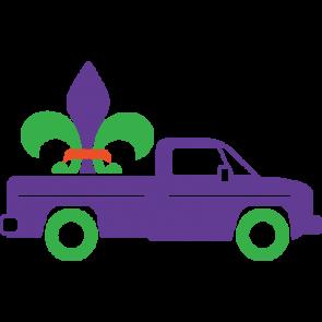 Mardi Gras Truck With Fleur De Lis