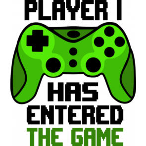 Player Has Entered The Game Gaming Tshirt