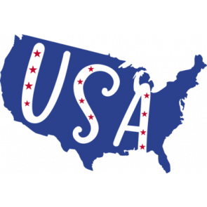 Usa Flag With Usa Cut Out